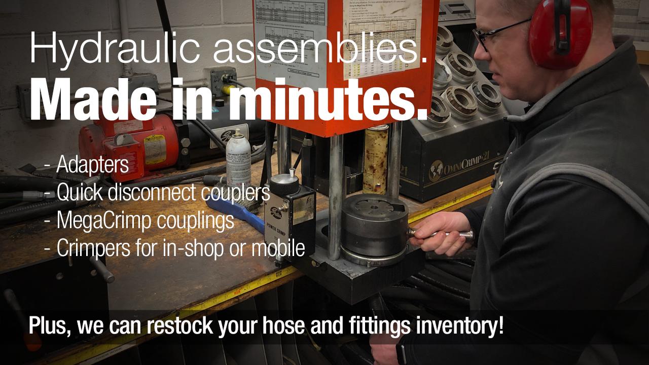 hydraulic assemblies, custom hoses